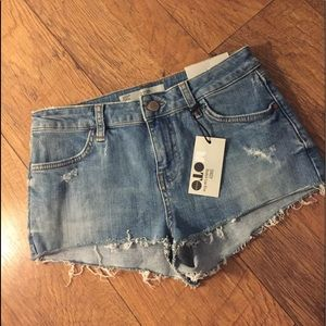 Topshop Daisy Stretch Low Rise Shorts